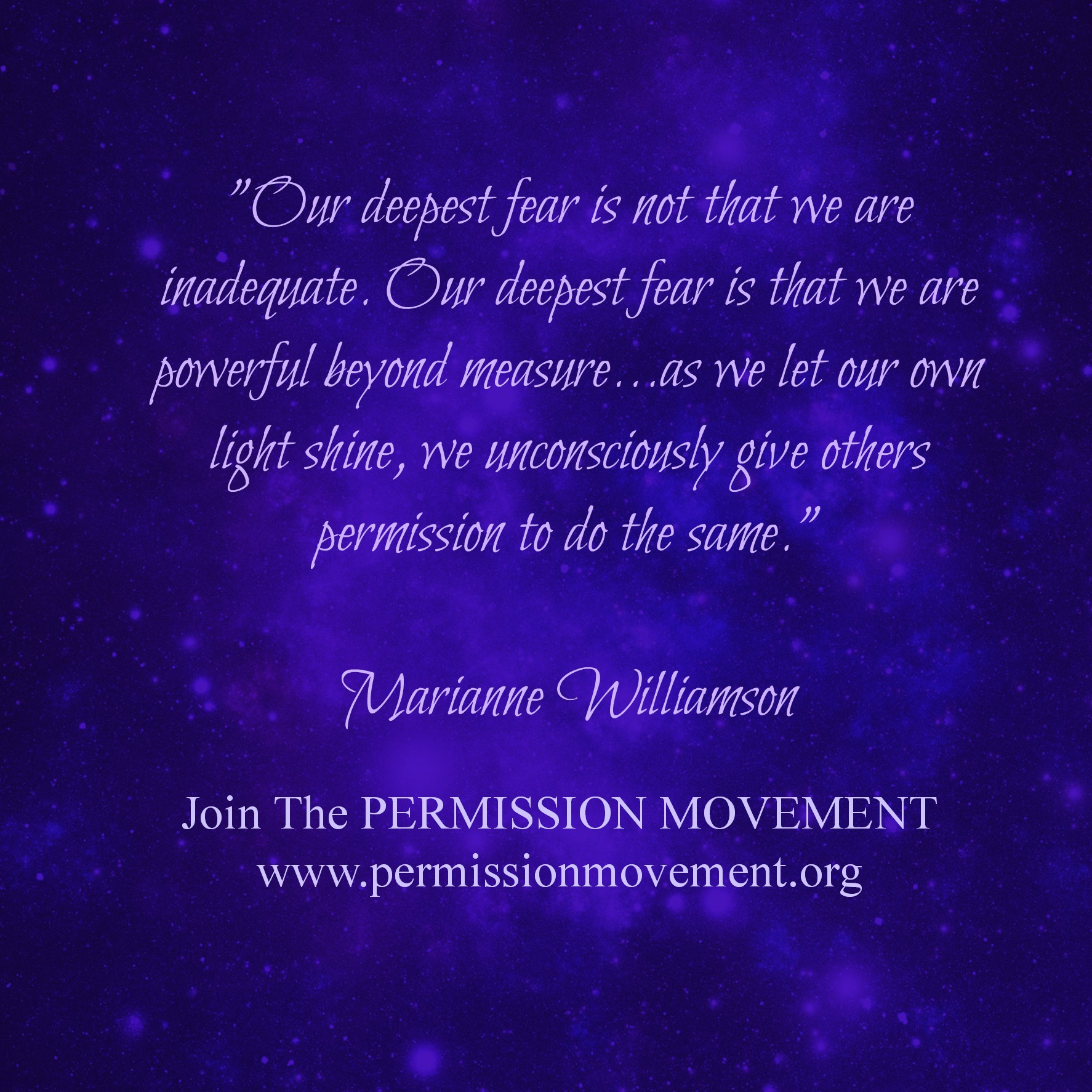 MarianneWilliamson_OurDeepestFear_PowerfulBeyondMeasure_053114